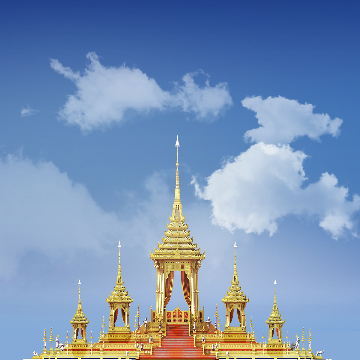 Phra Meru Mas (the royal crematorium) for the late King Bhumibol Adulyadej