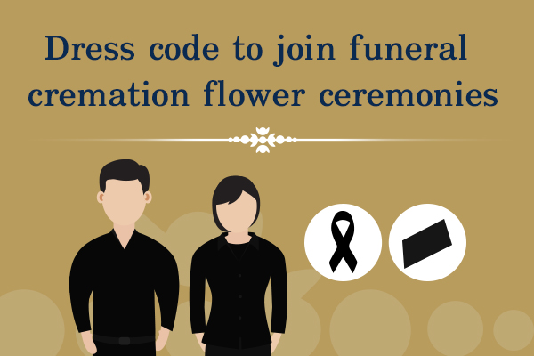 Dress code to join funeral cremation flower ceremonies on 26 October 2017
