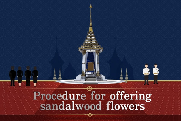 Procedure for offering sandalwood flowers