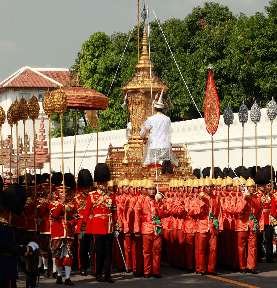 The first procession: Phra Yannamas Sam Lam Khan